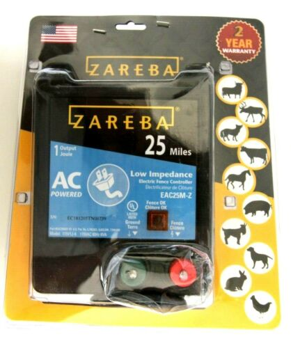 Zareba 25 Mile AC Low Impedance Fence Charger EAC25M-Z