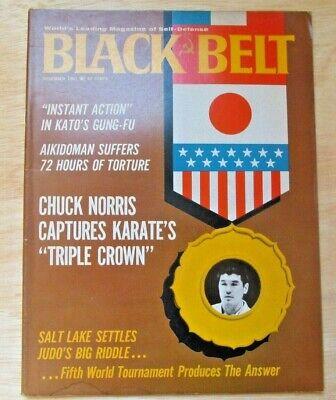 BLACK BELT Nov 67 RARE BRUCE LEE KATO JEET KUNE DO CHUCK NORRIS KUNG FU KARATE