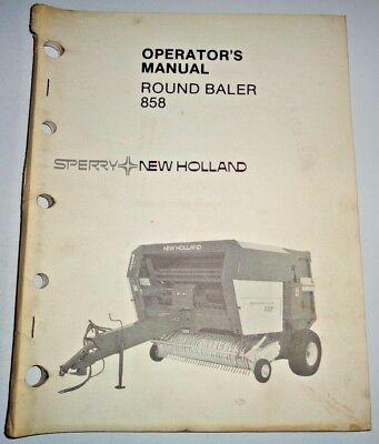 New Holland 858 Round Baler Operators Owners Manual 983 Original