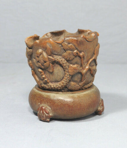 Nice Carved Chinese Bamboo Cup