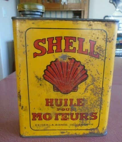 Antique SHELL OIL Can     Gas and Oil Tin
