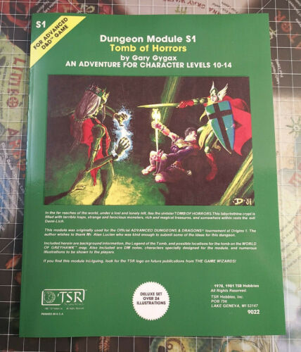 S1 Tomb of Horrors - Module Dungeons & Dragons AD&D D&D