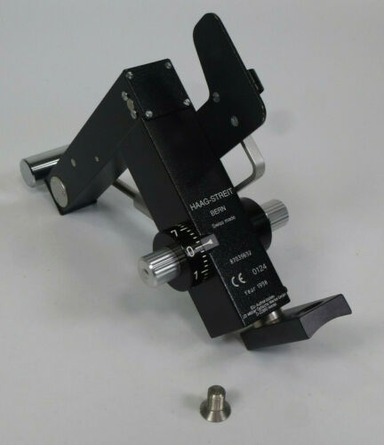 Haag Strait Bern Slit Lamp Applanation Tonometer w/ Mounting Bracket & Screw