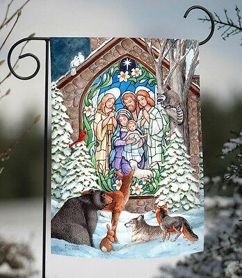 Toland Winter Nativity 12.5 x 18 Christmas Church Snow Wildl