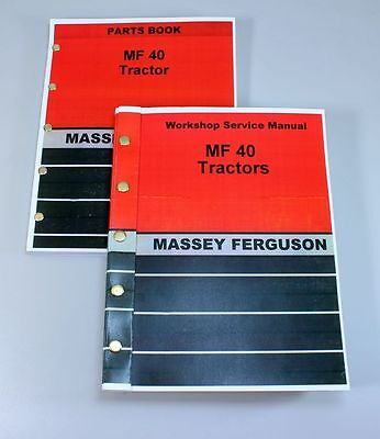 Massey Ferguson Mf 40 Industrial Tractor Service Repair Manual Parts Catalog