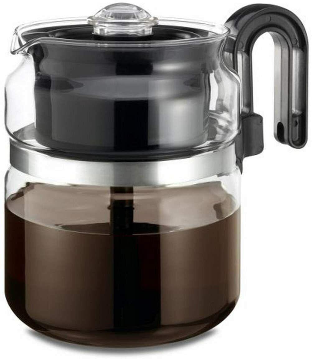 Stovetop Percolator Coffee Pot, Glass, 8 cup 40 oz …