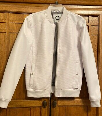 g by guess Mens Leather Jacket Dize Xs