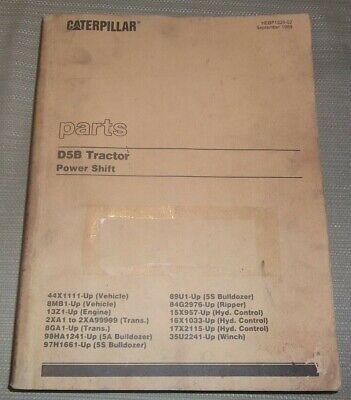 Cat Caterpillar D5b Crawler Tractor Dozer Parts Manual Sn 44x1111-up 8mb1-up
