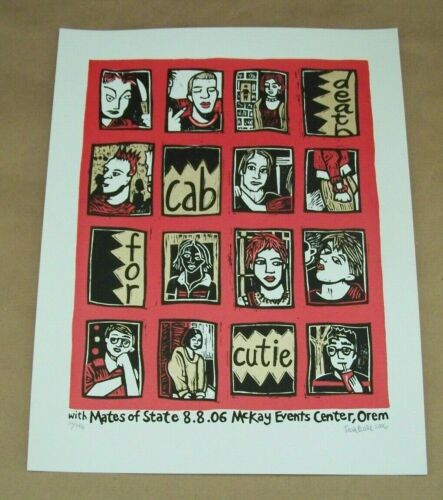 Leia Bell Death Cab for Cutie & Mates of State 2006 Gig Poster McKay Orem UT