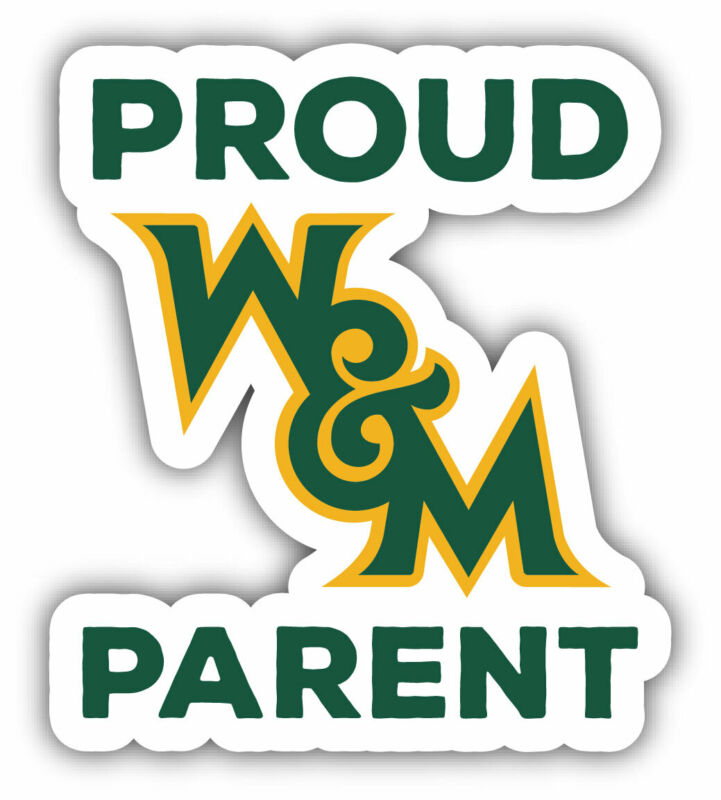 """William and Mary 4"""" Laser Cut Proud Parent Decal"""