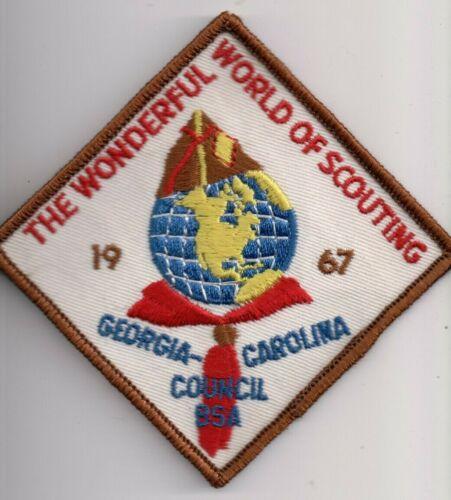 C BSA, Georgia Carolina Council, SC GA, 1967 Wonderful World of Scouting Event