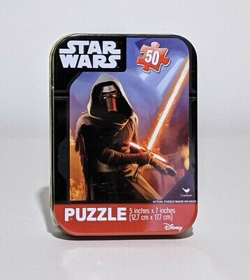 Kids' Mini Disney Star Wars Jigsaw Puzzle in metal case, 50 pieces, 5x7inches