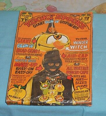 Kooky Spooky Halloween Costume (vintage KOOKY SPOOKS WONDER WITCH blow-up Halloween costume new/sealed)