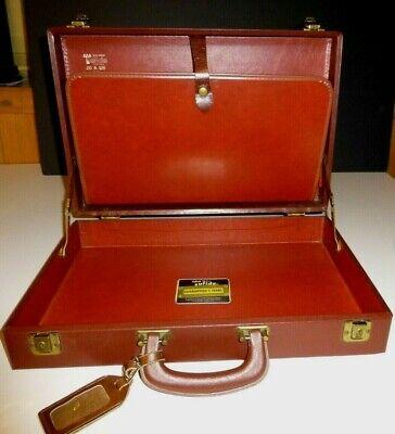 Stebco Tufide Hard Shell Attache 60s Briefcase Vinyl Coat Fabric Mad Men - Stebco Business Briefcase