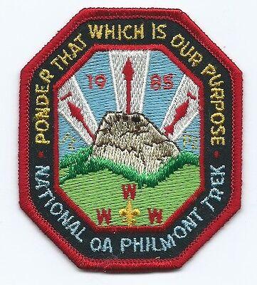 1985 National OA Philmont Trek Patch
