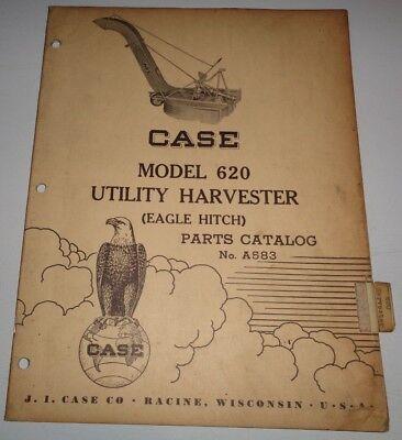 Case 620 Utility Harvester Parts Catalog Manual Original Tractor Eagle Hitch Mtd