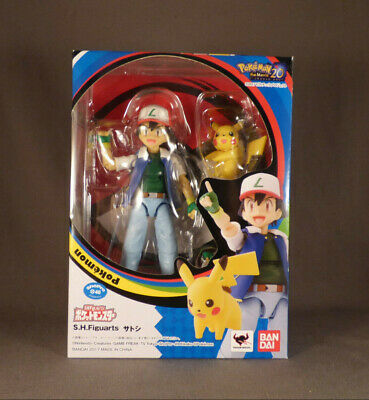 Japan Bandai S.H. Figuarts Pokemon Ash Ketchum & Pikachu Posable Figure VGC