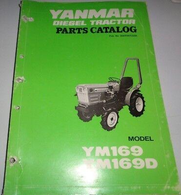 Yanmar Ym169 Ym169d Tractor Parts Catalog Manual Book Original