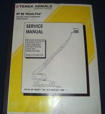 Simon Rp 86 Reach Plus Boom Man Lift Service Shop Repair Workshop Manual