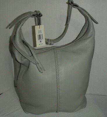 "À vendre Lucky Brand Napa Leather Hobo Bag Handbag Purse ""GRAY STEAM"" MSRP $278.00"