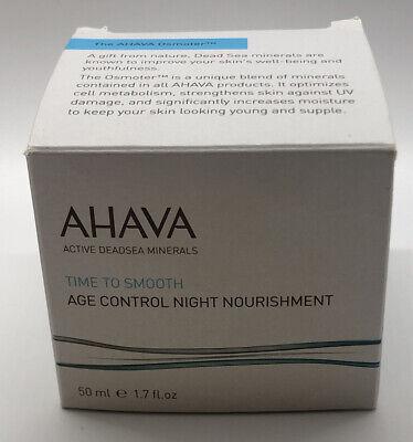 Ahava Time To Smooth Age Control Night Nourishment 50ml 1.7oz New Sealed