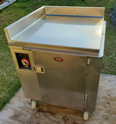 Fwe Hdc-252-i 120v Heated Dish Cart Poker Chip Warmer 12 Plates Stainless