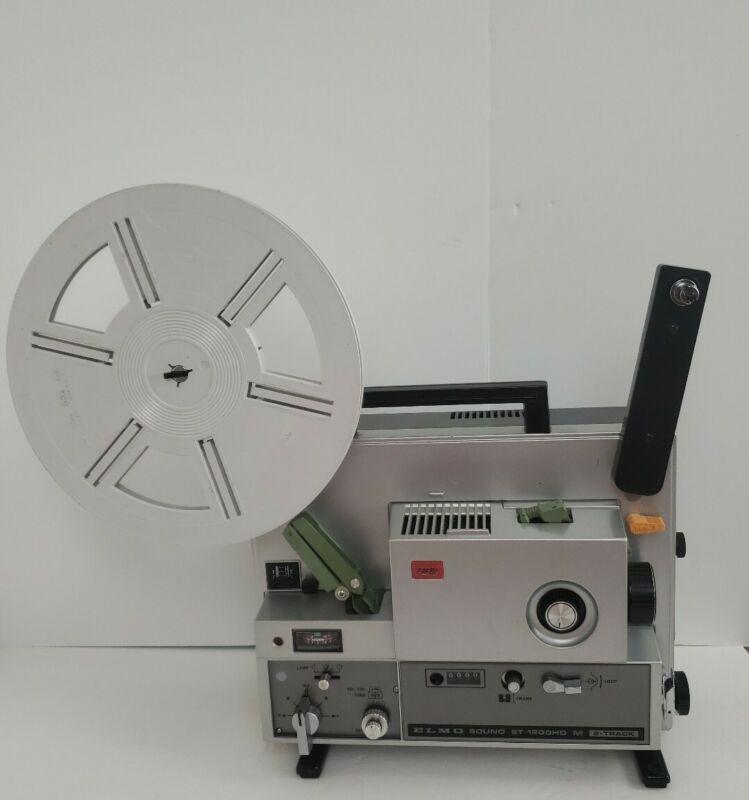 Elmo ST-1200HD Super 8 Sound Film Projector 2 Track Good Condition Original Case