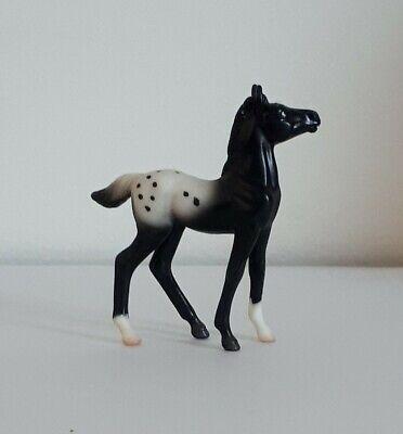 Breyer Stablemate Standing Foal -Black blanket appy – Deluxe Farm Pocket Barn