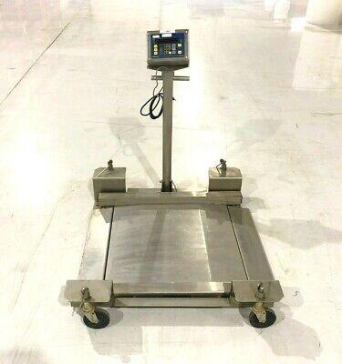 Fairbanks Stainless Steel Mobile Drum Scale 30x30 Platform 1000 Lbs 450 Kg