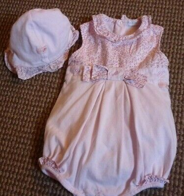 COCO Designer Baby Girl Summer Outfit & Hat age 3-6mnths