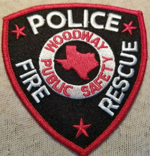 TX Woodway Texas Police/Fire/Rescue Patch