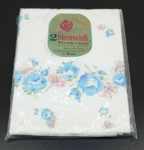 Vintage Riegel 2 Kleenwink Pillow Cases 100% Cotton 42x36 - New in Package