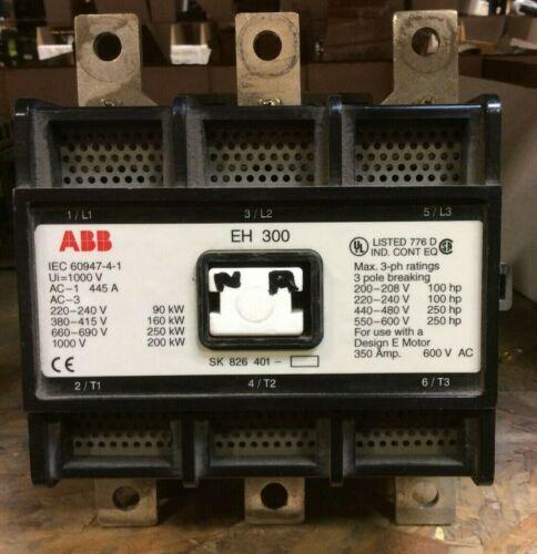 ABB EH300 600 Volt 24 VDC Coil Contactor