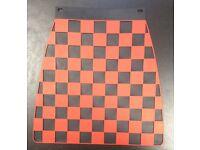 Mud flap chequered red on black for Vespa LML /& Lambretta