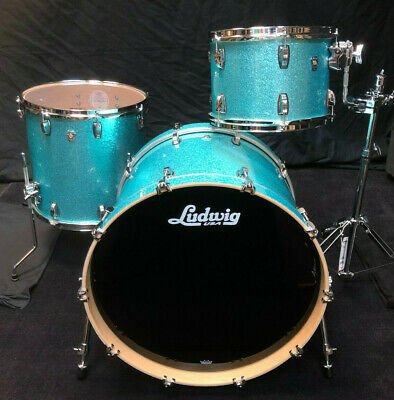 Ludwig USA Drumset Keystone X Pro Beat Turqouise Glitter Schlagzeug / Batterie