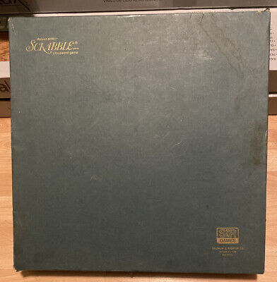 Vtg Deluxe Edition Scrabble Turntable Board Game Selchow & Righter Green Box Euc