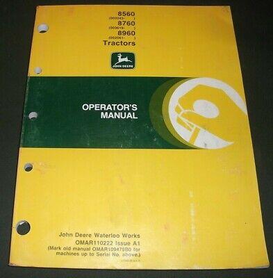 John Deere 8560 8760 8960 Tractor Operation Maintenance Manual Book Omar110222