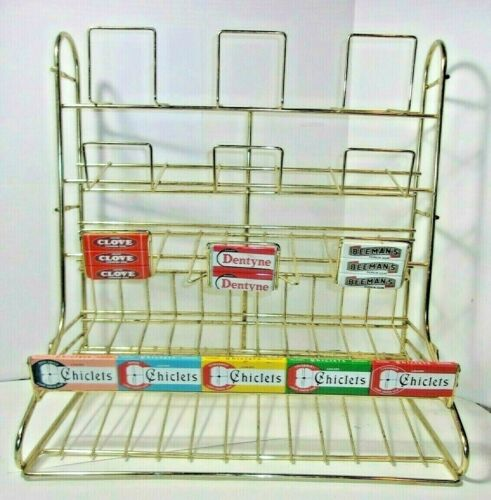 Vintage Store Chewing Gum Candy Counter Display Rack sign Chiclets Dentyne