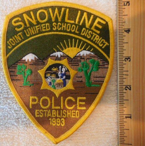 SNOWLINE CALIFORNIA POLICE PATCH (HIGHWAY PATROL, SHERIFF, EMS)