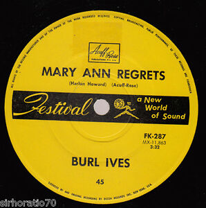 BURL-IVES-Mary-Ann-Regrets-How-Do-You-Fall-Out-Of-Love-1960s-OZ-45