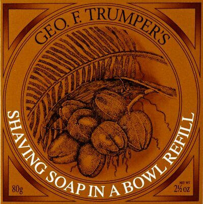 Geo F. Trumpers Coconut Oil Hard Shaving Soap Refill - - Hard Shaving Soap Refill