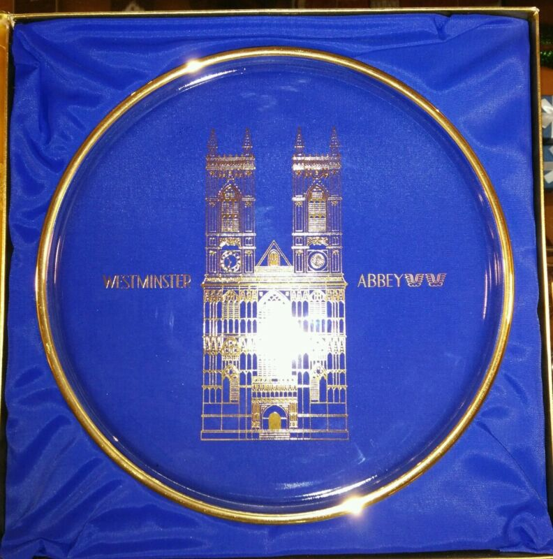 ORREFORS CRYSTAL WESTMINSTER ABBEY CATHEDRAL Annual PLATE 1971 in Orig Box