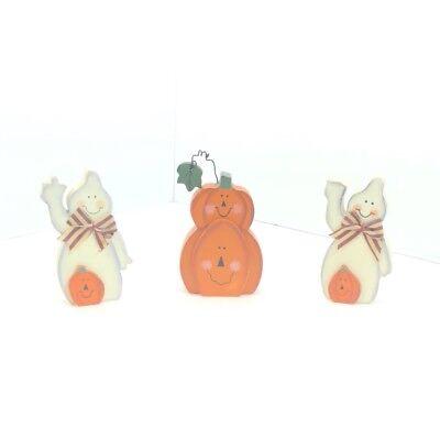Small Folk Painted Wood Block Halloween Figurines Ghosts Pumpkins 2004](Small Halloween Figurines)