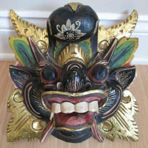 Vintage Hand Carved WOODEN Demon Mask GARDIAN TOPENG DEMON BALINESE c1920-30