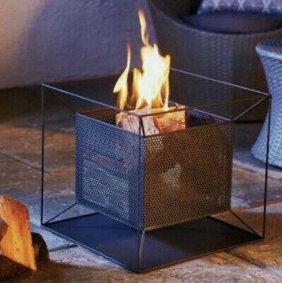 Garden Fire Pit Basket Patio Heater Log Wood Charcoal Burner Fireplace Black 🔥