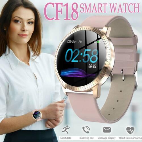 Smart Watch Women Fitness Tracker Heart Rate Monitor Lady Fo