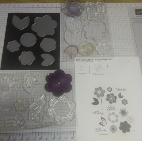 Papertrey Ink Friendly Flowers Stamp Set With Matching Dies - $20.00
