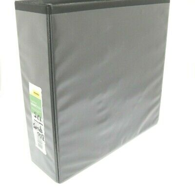 Large 3 3 Ring Easy To Load View Binder Black Slant D Rings Display Pockets