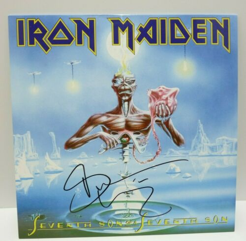 Bruce Dickinson Iron Maiden Seventh Son Autographed Signed LP Beckett Certified