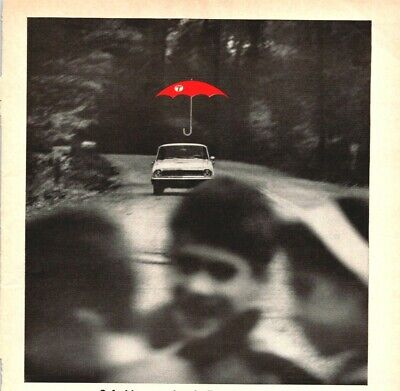 Travelers Insurance Safe Driver Red Umbrella Hartford CT 1963 Vintage Print Ad